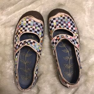 Keen patchwork Mary Janes